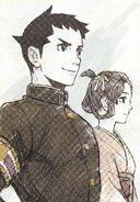 Ryuunosuke and Susato Ilustration