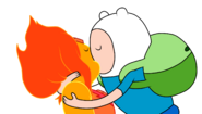 Finn and flame princess kiss 2 day color by julietsbart-d59jpy8