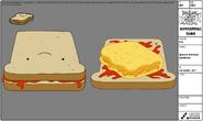 Modelsheet Sentient Sandwich