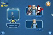 FusionFall Heros start menu
