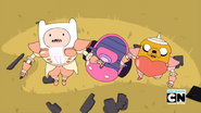 S7e1 finn and jake worried