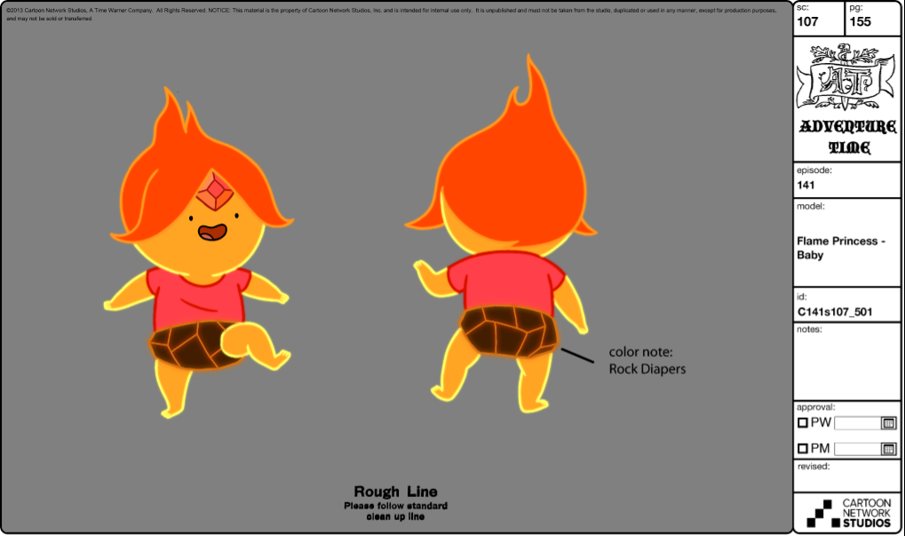 Image - Modelsheet flameprincess baby.png | Adventure Time ...