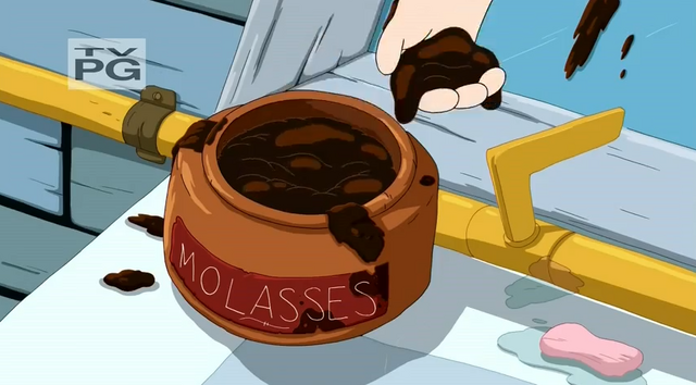 File:S5 e7 Molasses that Finn puts in his hair.PNG