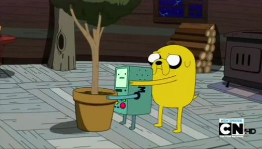 File:S4e8 Jake hiding behind BMO.png