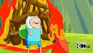 S4e16 Finn n FlameP laughing