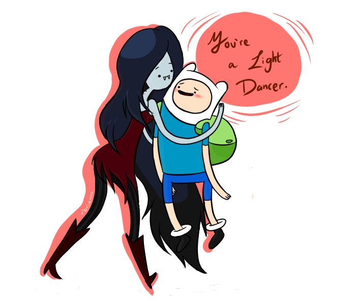 Finn And Marceline Kiss Drawing