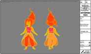 Modelsheet flameprincess - newcostume