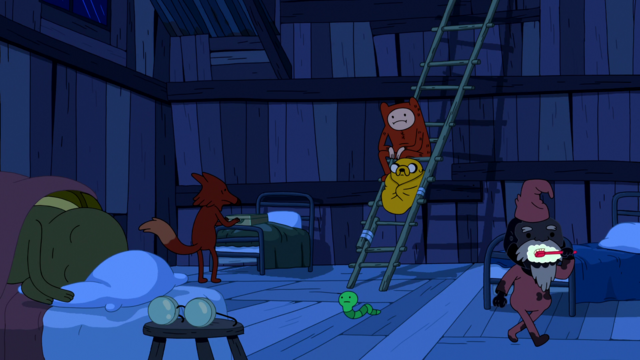 File:S6e12 Finn and Jake sitting on ladder.png