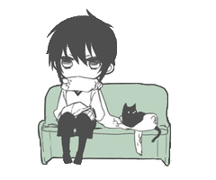 File:A boy with a black cat.png