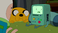 S5e28 BMO lying to Finn and Jake.png