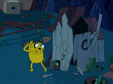 File:S3e3 tinygoblin jake with shovel.png
