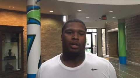 Tulane DT Tanzel Smart on the first week of fall camp