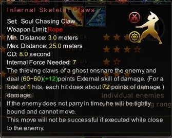 (Soul Chasing Claw) Infernal Skeletal Claws (Description)