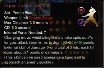 (Perish Blade) Viper Flicks Tongue (Description)