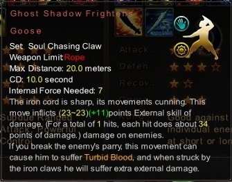 (Soul Chasing Claw) Ghost Shadow Frightens Goose (Description)