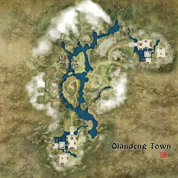 Qiandeng Town Map
