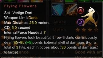(Vertigo Dart) Flying Flowers (Description)