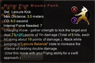 (Leisure Kick) Winter Plum Blooms Forth (Description)