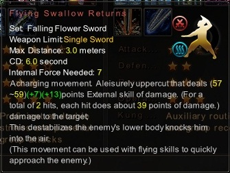 (Falling Flower Sword) Flying Swallow Returns (Description)