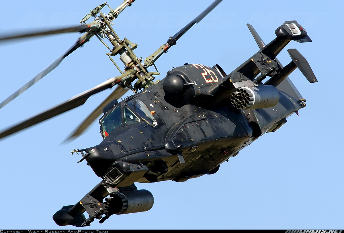 KAMOV KA-50 BLACK SHARK GUNSHIP attack helicopter military russian ...