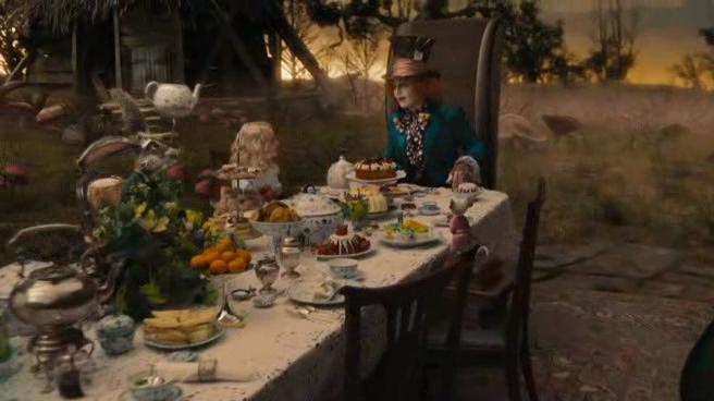 Resultado de imagen de alicia en el pais de las maravillas tomando el te