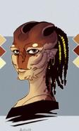 Female aliens headshot by zarnala-d45wssu