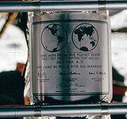 220px-Apollo 11 plaque closeup on Moon-1-