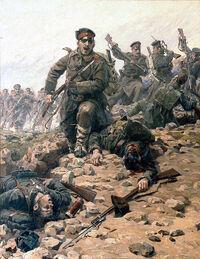 Balkan bayonet charge