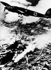 German plane bombing Warsaw 1939