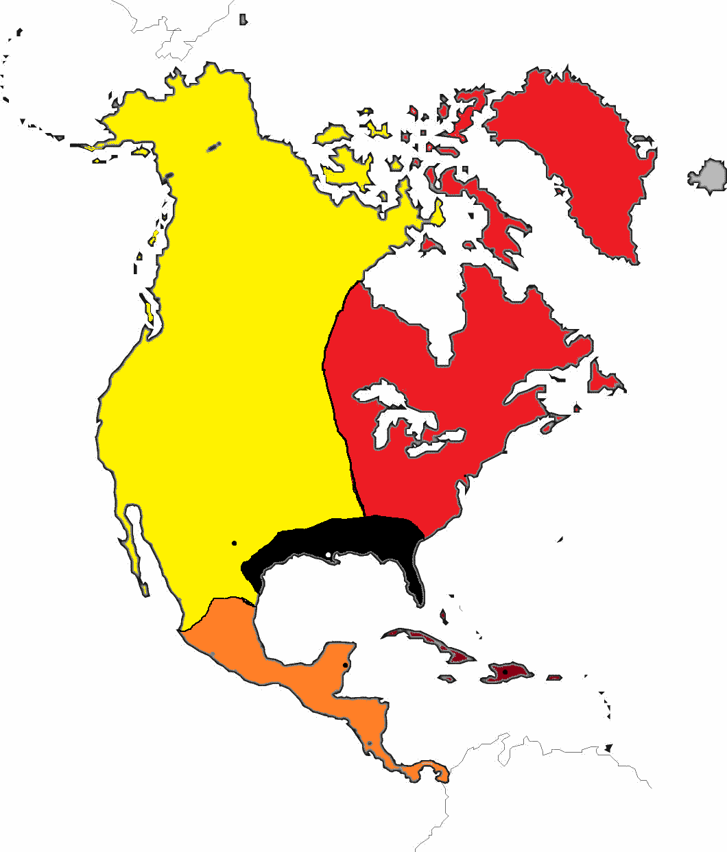 North America Outline Map North America Political Blank Map - Blank maps of america