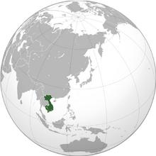 Indochina map fatherlands
