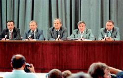 Press conference of the Committee of the GKChP USSR (August 19, 1991)