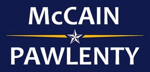 McCain-Pawlenty 2008 Campaign Logo