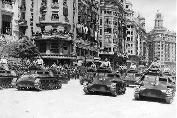 Tanks in city
