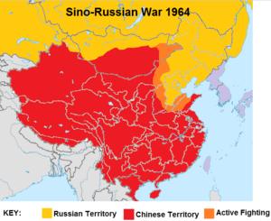Sino-Russian War 1963-64 Map