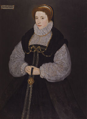 Dorothy Latimer, wife of Thomas Cecil by British artist, active between 1537 - 1599