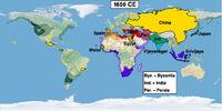 Timeline 1600s (Easternized World)