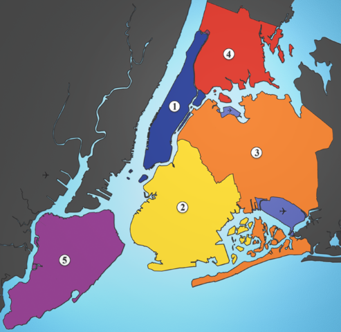 File:5 Boroughs Labels New York City Map Julius Schorzman.png