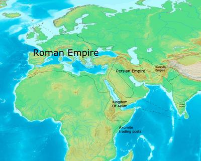 Western Empires circa 720 CE