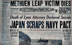 Japan renouncing Washinton Naval Treaty