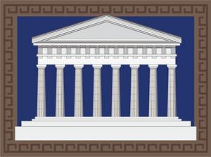 Stylized Greek Temple