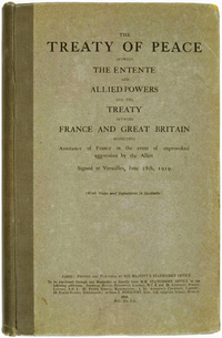 Treaty of Versailles, English (No Napoleon)