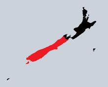 Map Of Te Wai Pounamu