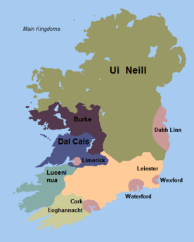 Ireland map 1276 kel