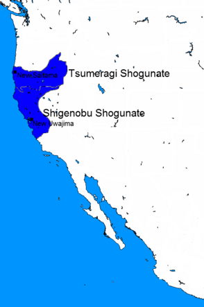 Japanese California before expansion
