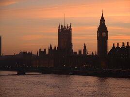 Houses of parliament dusk-Public-Domain