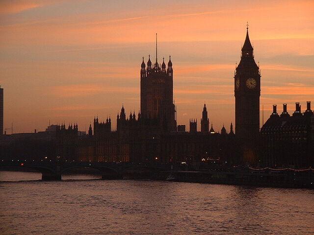 File:Houses of parliament dusk-Public-Domain.jpg