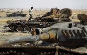 Destroyed Libyan tanks near Sirte (SIADD)