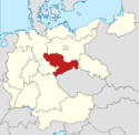 Locator map Saxony in Germany (IM)