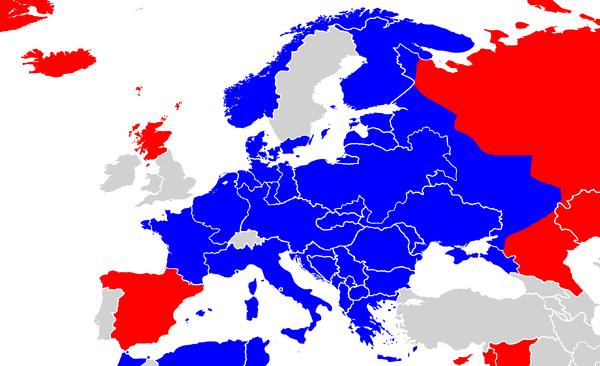 WWII world war II extent of Nazi Romana (Pax Columbia